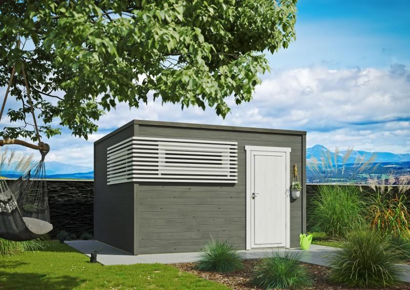 Kubus Gartenhaus Modell Q-BIC Modern 44 D