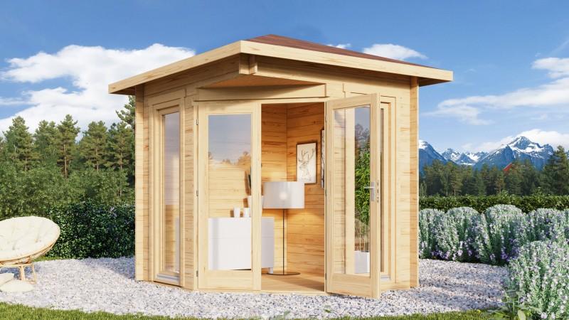 5 Eck Gartenhaus Modell Nina 44 D
